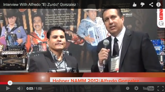 "Alfredo ""El Zurdo"" Gonzalez from Los Tucanes de Tijuana at the 2012 NAMM Show."